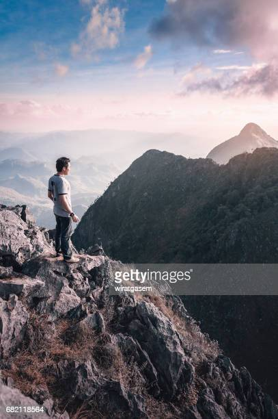 Climber in Mountains