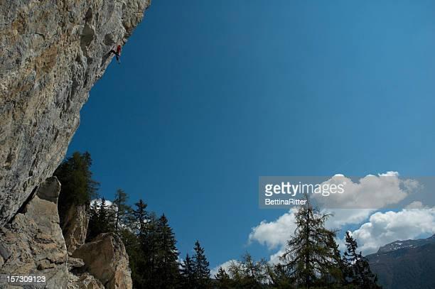 Grimpeur sur Falkenstein en Autriche