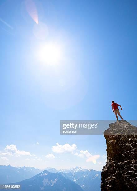 Climber on mountain peak