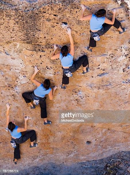 climber sequence - multiple exposure sport stock pictures, royalty-free photos & images