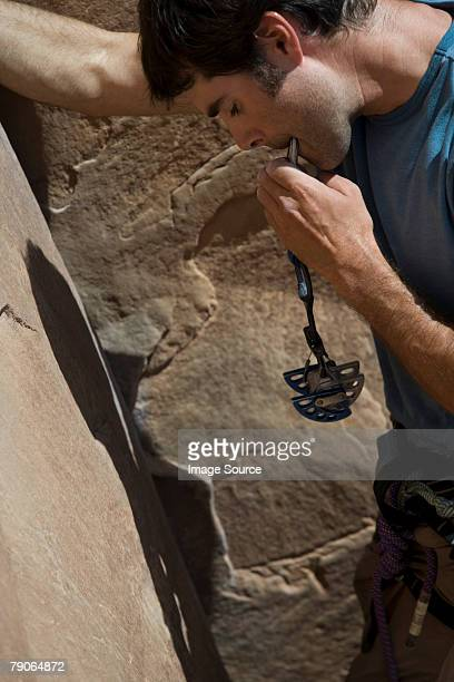 Climber with camming device