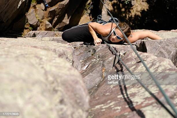 Kletterer Frau