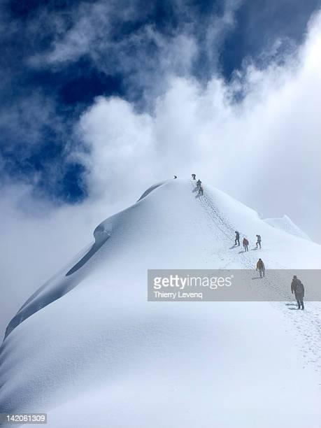 Climbers approaching summit