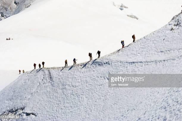 Kletterer auf die Berge