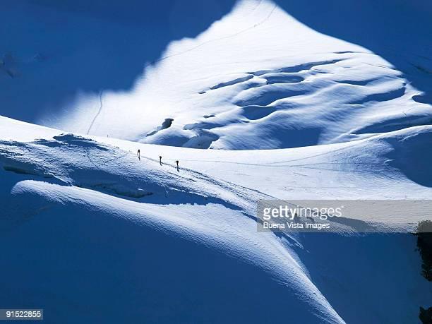 climbers on the alps - monte rosa foto e immagini stock