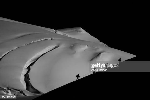 Climbers on the glacier