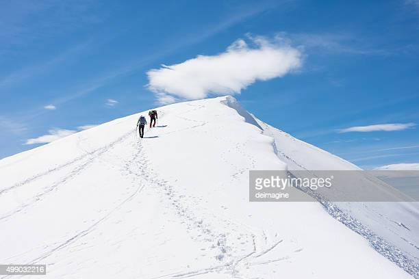 Climbers on the mountain top
