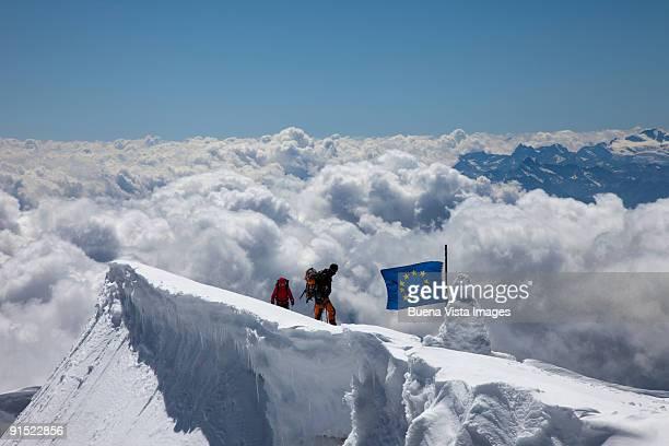 Climbers reaching Punta Gnifetti
