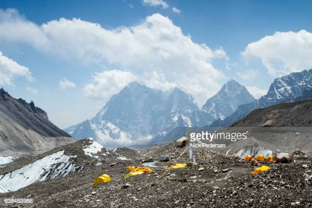 Climber's Tents at Everest Base Camp