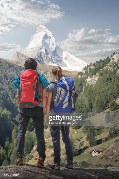 Climbers watching he Matterhorn