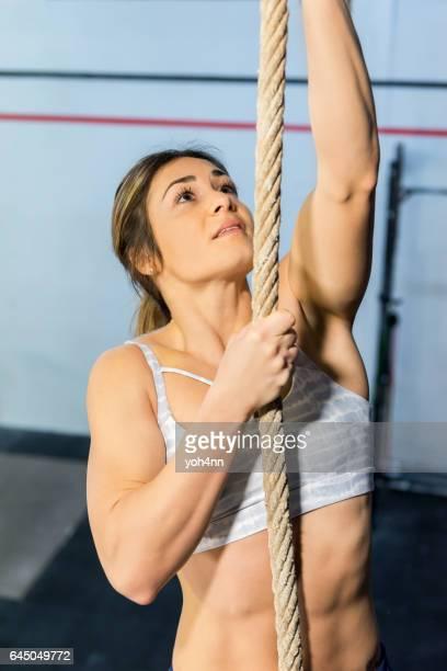 Klättring en rep