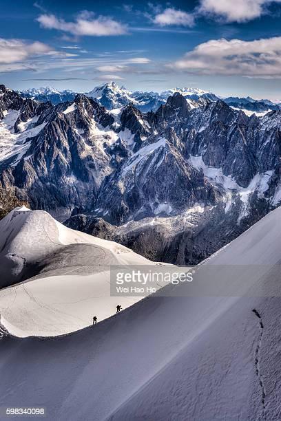 Climbing Aiguille du Midi