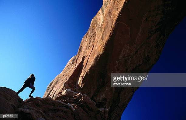 Climbing arch, Low angle view, Arches National Park, United States of America