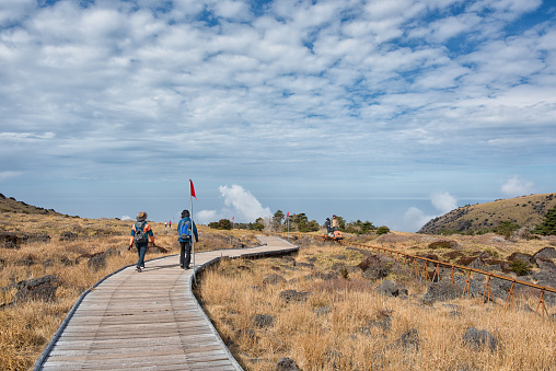 Climbing Hallasan Eorimok Trail, 한라산 어리목 코스, 윗세오름 - gettyimageskorea