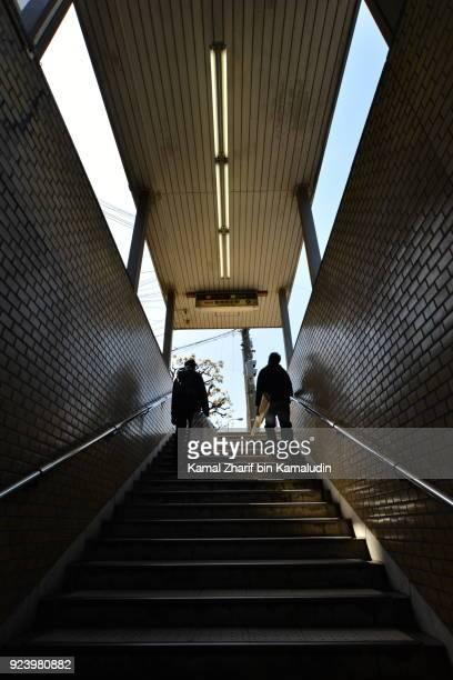 Climbing japanese stairs