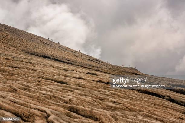 climbing mount bromo, java, indonesia - mt semeru stock pictures, royalty-free photos & images