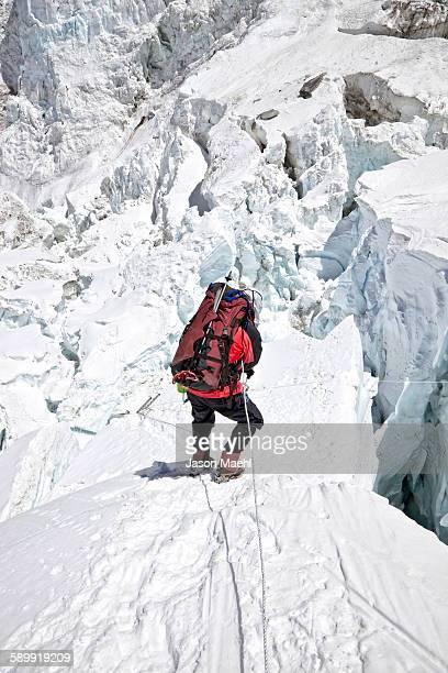 climbing mt everest - solu khumbu stock pictures, royalty-free photos & images