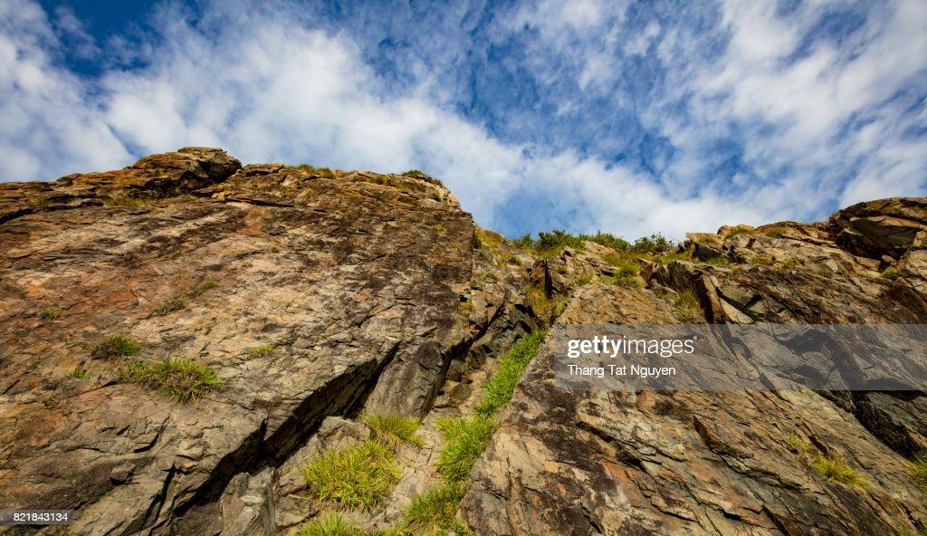 Climbing rock cliff in Nha Trang. Vietnam : Stock Photo