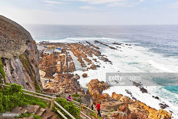 climbing stairs at the point at mossel bay - mossel bay stock pictures, royalty-free photos & images