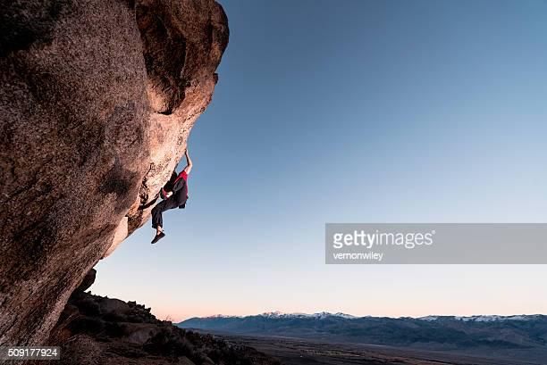 climbing steep