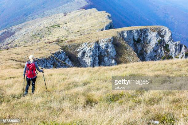 Klettern die Berge