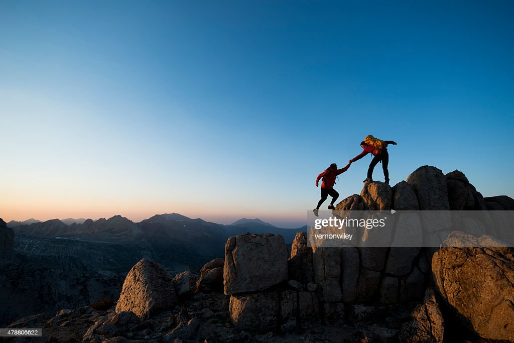 climbing to the top : Stock Photo
