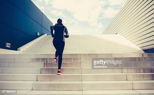 climbing up the stairs - staircase stock pictures, royalty-free photos & images