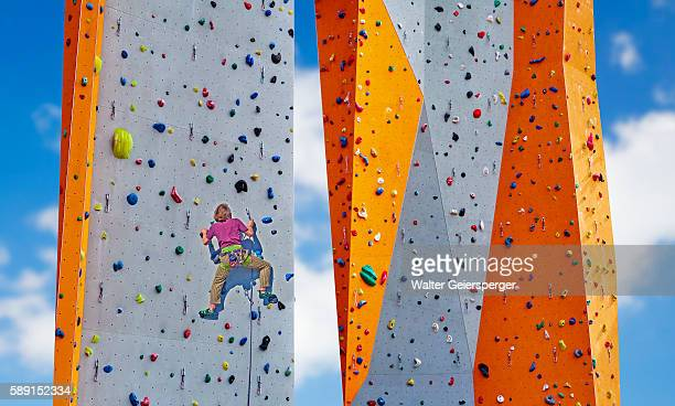 climbing wall - image stock pictures, royalty-free photos & images