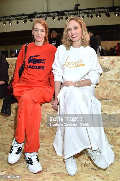 Céline Sallette and Lilou Fogli attend the Lacoste show as part of the Paris Fashion Week Womenswear Fall/Winter 2020/2021 on March 03 2020 in Paris...