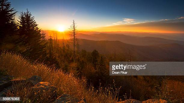 clingman's dome at sunrise - clingman's dome - fotografias e filmes do acervo