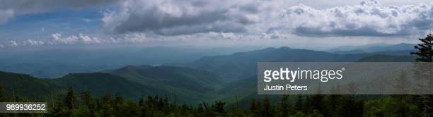 clingman's dome panorama - clingman's dome stock photos and pictures