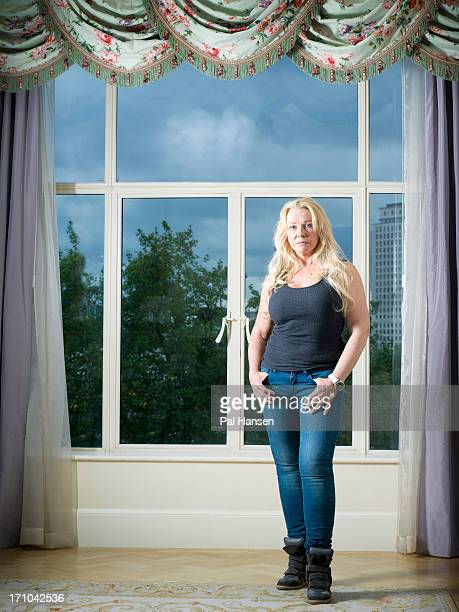 Clinical psychologist and writer Pamela Stephenson is photographed for the Sunday Times magazine on August 20 2012 in London England