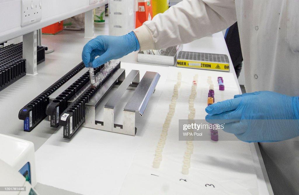 Coronavirus Testing Laboratory In Glasgow : News Photo