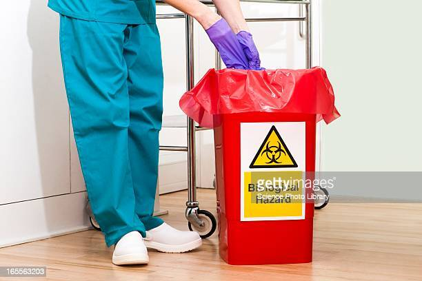 clinical waste disposal - toxic waste stock pictures, royalty-free photos & images