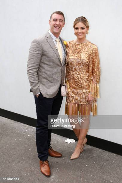 Clint and Hannah Amos arrive at the Melbourne Cup Carnival on November 7 2017 in Melbourne Australia Chris Putnam / Barcroft Images