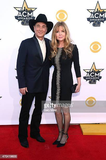 Clint Black and Lisa Hartman Black attend the 50th Academy Of Country Music Awards at ATT Stadium on April 19 2015 in Arlington Texas