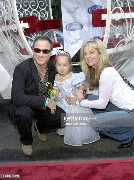 Clint Black Lily Pearl and Lisa Hartman during Swiffer Wetjet Presents the Cinderella DVD Release and Royal Ball Red Carpet at Ziegfeld Theatre in...