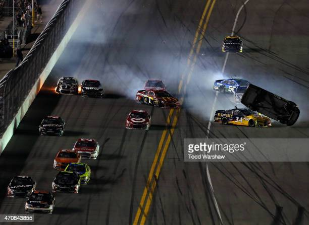 Clint Bowyer driver of the 5hour ENERGY Toyota David Ragan driver of the CSX Play It Safe Ford Jamie McMurray driver of the McDonald's Chevrolet...