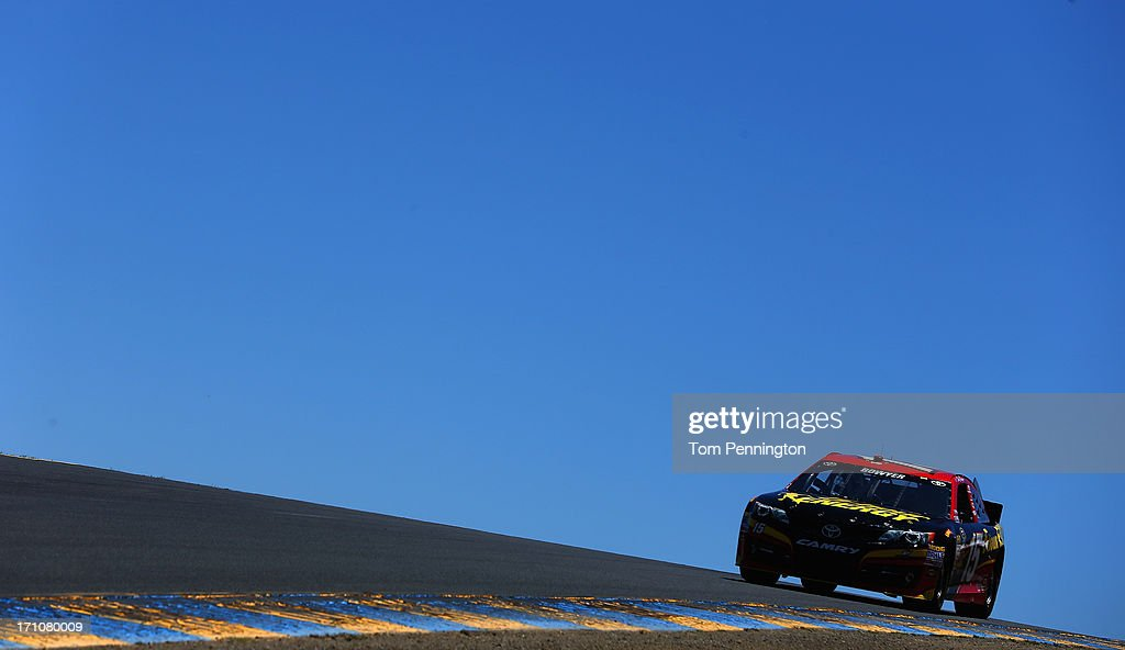 Clint Bowyer, driver of the #15 5-hour ENERGY Toyota, drives during practice for the NASCAR Sprint Cup Series Toyota/Save Mart 350 at Sonoma Raceway on June 21, 2013 in Sonoma, California.