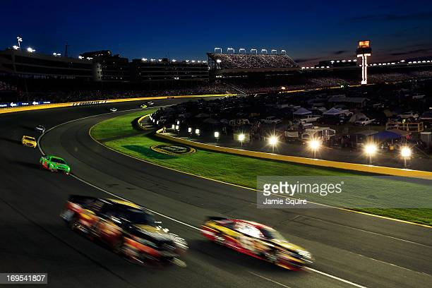 Clint Bowyer driver of the 5hour ENERGY Toyota in action during the NASCAR Sprint Cup Series CocaCola 600 at Charlotte Motor Speedway on May 26 2013...