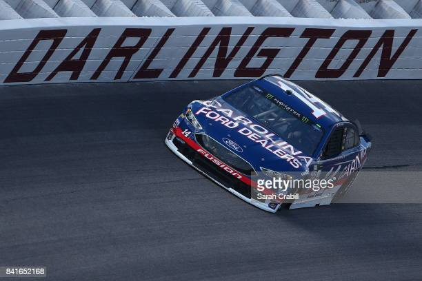 Clint Bowyer driver of the Carolina Ford Dealers Ford practices for the Monster Energy NASCAR Cup Series Bojangles' Southern 500 at Darlington...