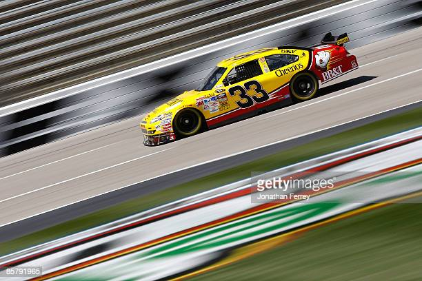 Clint Bowyer driver of the Cheerios/Hamburger Helper Chevrolet drives during practice for the NASCAR Sprint Cup Series Samsung 500 at Texas Motor...