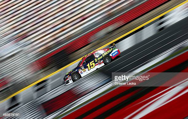 Clint Bowyer driver of the Cherry 5hour Energy for Special Operations Warrior Foundation Toyota practices for the NASCAR Sprint Cup Series CocaCola...
