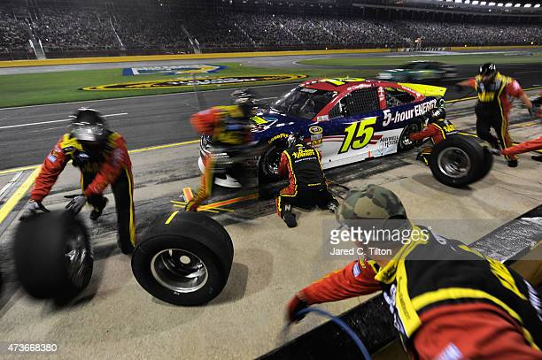 Clint Bowyer driver of the Cherry 5Hour Energy/Special Operations Warrior Foundation Toyota pits during the NASCAR Sprint Cup Series Sprint AllStar...