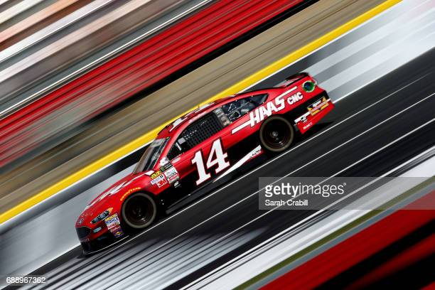 Clint Bowyer, driver of the Haas Automation Ford, practices for the Monster Energy NASCAR Series Coca-Cola 600 at Charlotte Motor Speedway on May 27,...