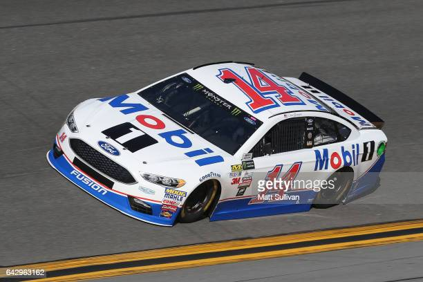 Clint Bowyer driver of the Mobil 1 Ford drives during qualifying for the Monster Energy NASCAR Cup Series 59th Annual DAYTONA 500 at Daytona...