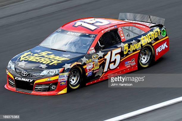 Clint Bowyer drives the 5hour ENERGY Toyota during practice for the NASCAR Sprint Cup Series CocaCola 600 at Charlotte Motor Speedway on May 23 2013...