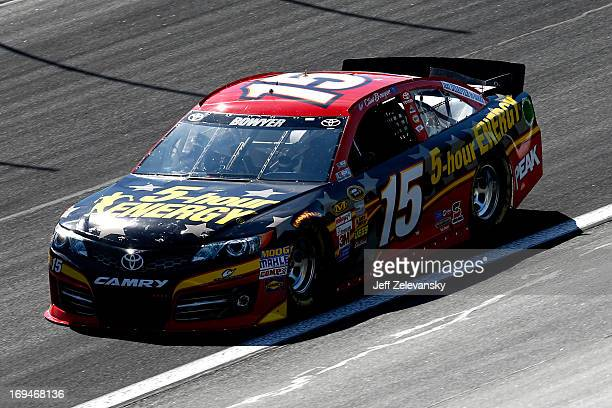 Clint Bowyer drives the 5hour ENERGY Toyota during practice for the NASCAR Sprint Cup Series CocaCola 600 at Charlotte Motor Speedway on May 25 2013...