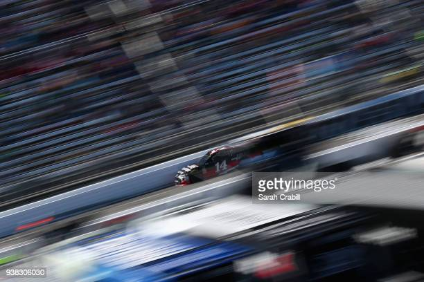 Clint Bowyer drives the Haas Automation Demo Day Ford during the weather delayed Monster Energy NASCAR Cup Series STP 500 at Martinsville Speedway on...