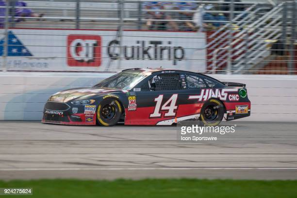 Clint Bowyer StewartHas Racing Haas Automation Ford Fusion during the Monster Energy NASCAR Cup Series Folds of Honor Quiktrip 500 race on February...